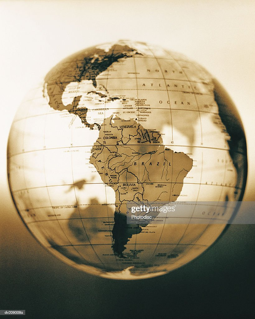 Antique looking globe : Stock Photo