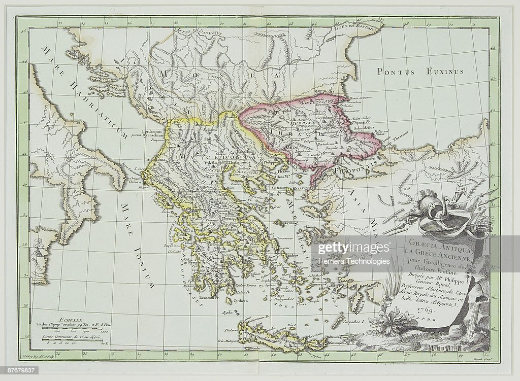 Map Of Italy Greece And Turkey.Antique Map Showing Greece And Turkey With Italy Albania Bulgaria