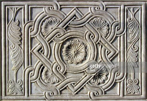 antique marble tile - medallion stock photos and pictures