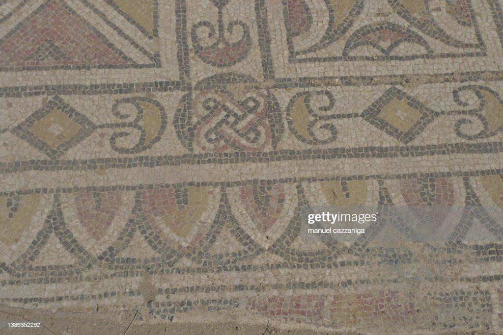 Antique Mosaic In Sardinia Italy High-Res Stock Photo ...