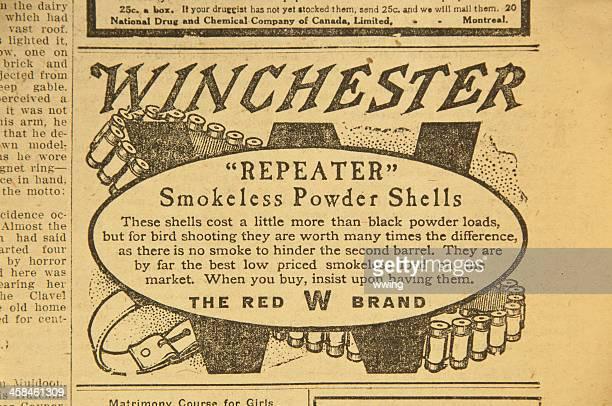 Ancienne publicité presse. Fusil de chasse aux coquillages
