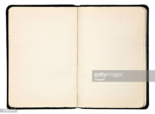 antique notebook of 1930s - workbook stock photos and pictures