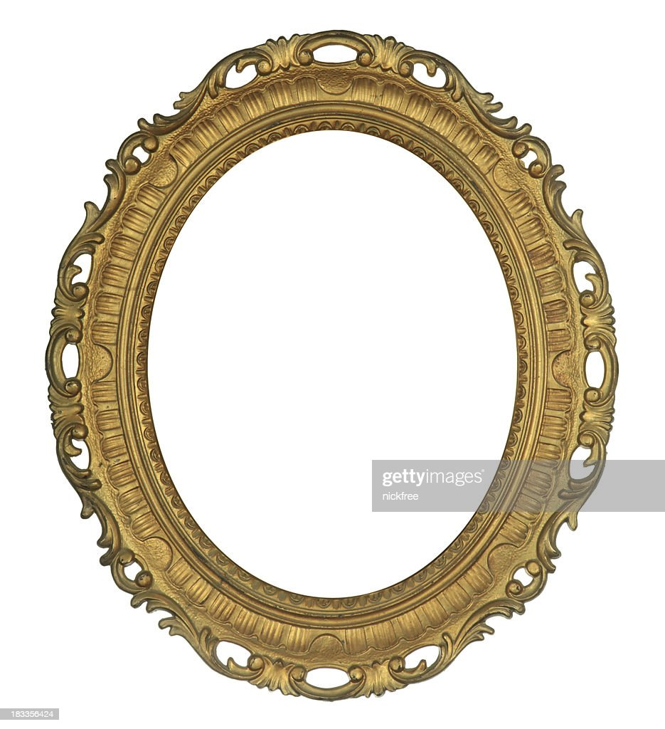Antique Oval Gold Frame Stock Photo | Getty Images