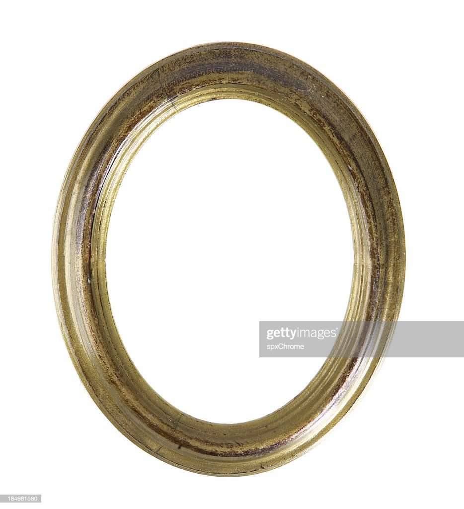 Antique Oval Picture Frame Stock Photo | Getty Images