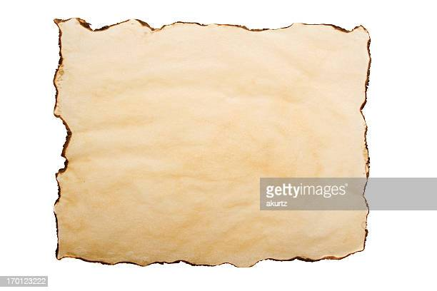 antique paper burnt edges parchment textured background blank grunge old - old parchment background burnt stock photos and pictures