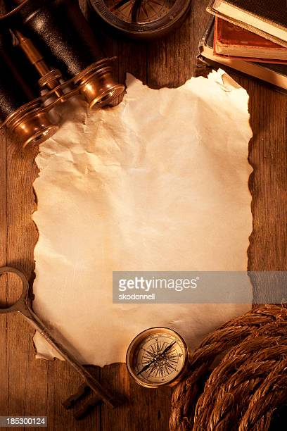 antique paper on a wooden desk - torah stock photos and pictures