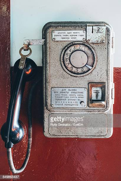 Antique Pay Telephone On Wall