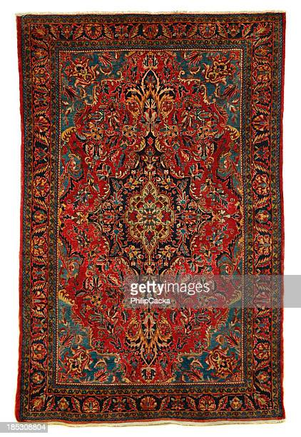 Antique Persian Sarouk Area Rug