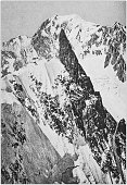 antique photo from mountaineering book mont