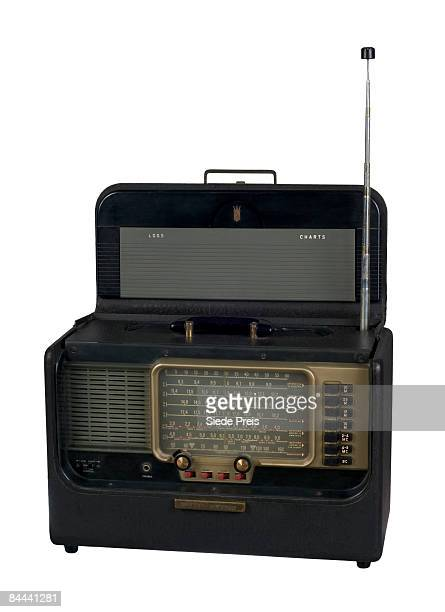 Antique Portable Shortwave Radio on White