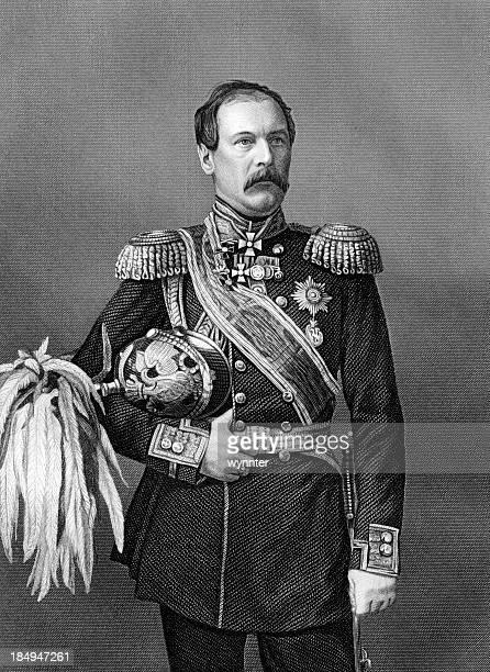 Antique Portrait of Russian General Franz-Edward Ivanovich Todtleben circa 1850s