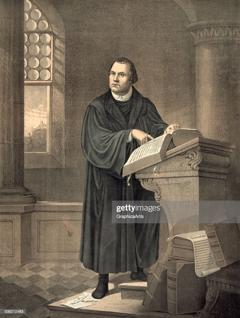 Martin Luther In His Study : News Photo