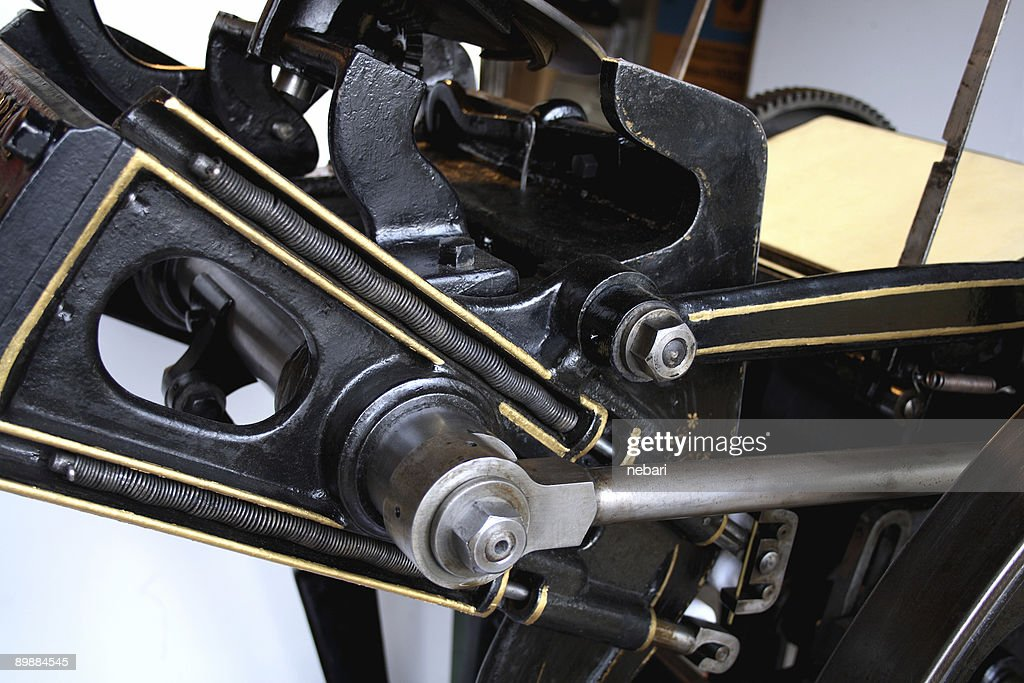 Antique Printing Press Detail Stock Photo - Getty Images