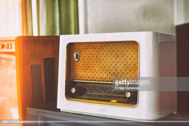 Antique radio in vintage style