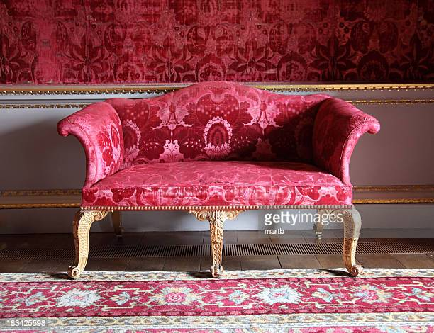 Antique red sofa