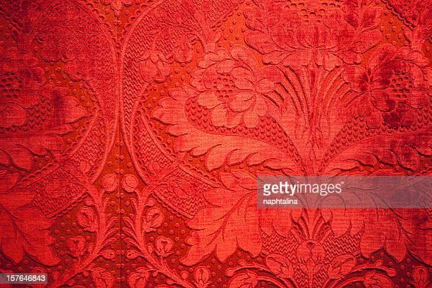 antique mur en velours rouge