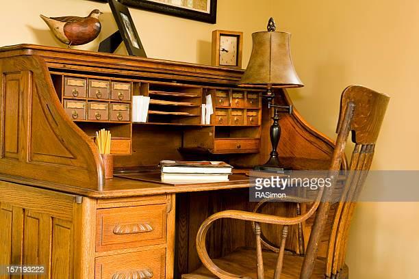 Antique Rolltop Desk Stock Pictures