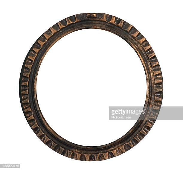 Monture ronde noir Or Antique