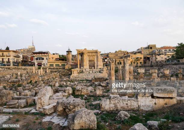 Antique ruins at the archeological site Beqaa Governorate Baalbek Lebanon on May 1 2017 in Baalbek Lebanon