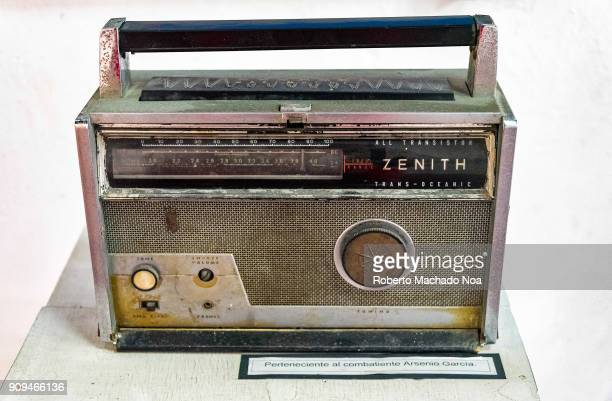 Antique rusty Zenith transistor radio belonging to Arsenio Garcia The item is kept in the 'Consistorial House' currently known as 'La Periquera'...