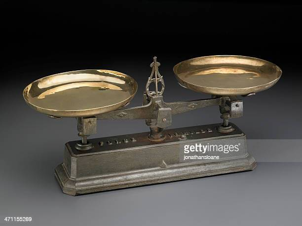 Antique Scale on neutral gray background