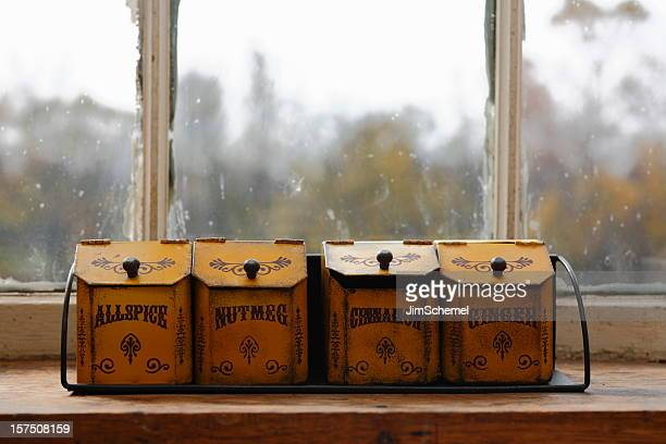 Antique Spice Containers