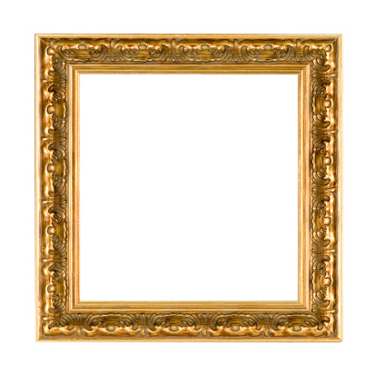 Antique Square Gold Picture Frame 172685474