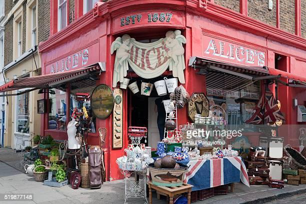 Antique store in Portobello Road market