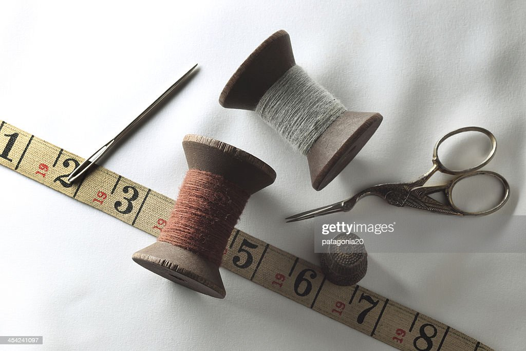 Antique Tailoring and Sewing : Stock Photo
