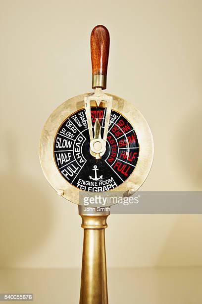 Antique telegraph lever