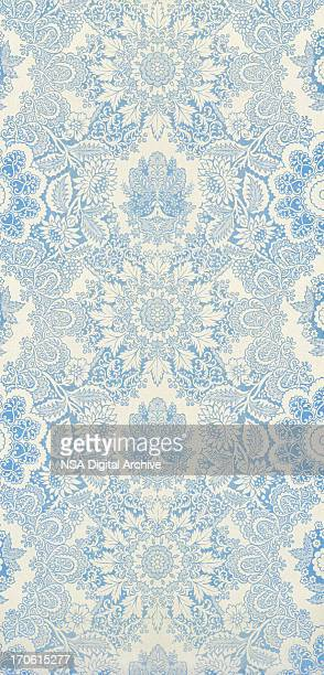 antique textile - victorian wallpaper stock pictures, royalty-free photos & images