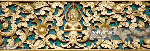 Antique Thai Buddhist temple decoration.