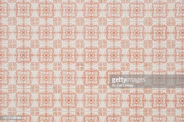 antique tiles - faro city portugal stock photos and pictures