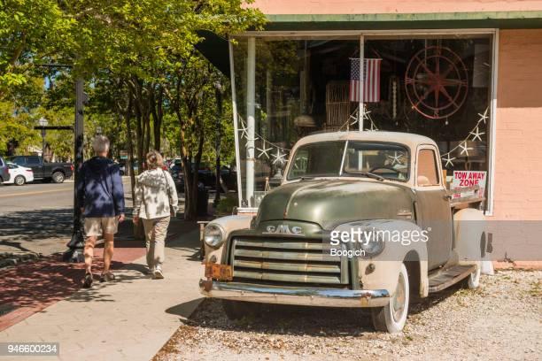 Antique Truck by Fernandina Beach Main Street Storefront Amelia Island