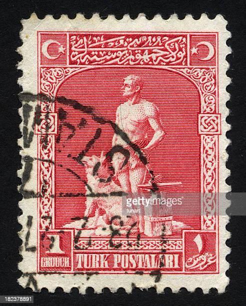 Antique Turkish Postage Stamp