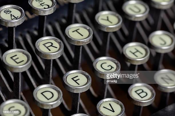 Antike Schreibmaschinentastatur