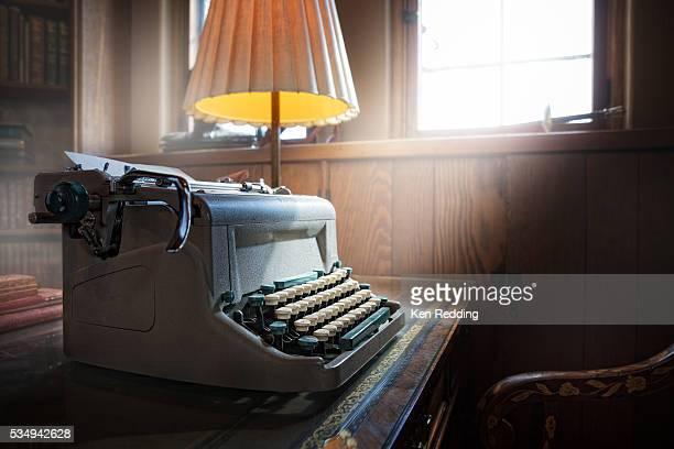 antique typewriter - typewriter stock pictures, royalty-free photos & images
