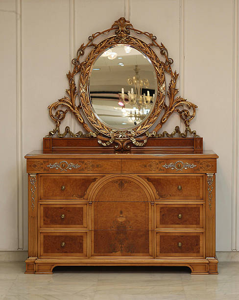 Antique Vanity Mirror by Ravissant at New Freinds Colony in New Delhi, India - Antique Vanity Mirror By Ravissant At New Freinds Colony In New