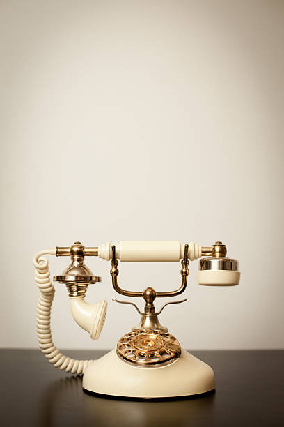"""""""Antique Victorian-Style Rotary Telephone, With Copy Space"""" Wall Art"""