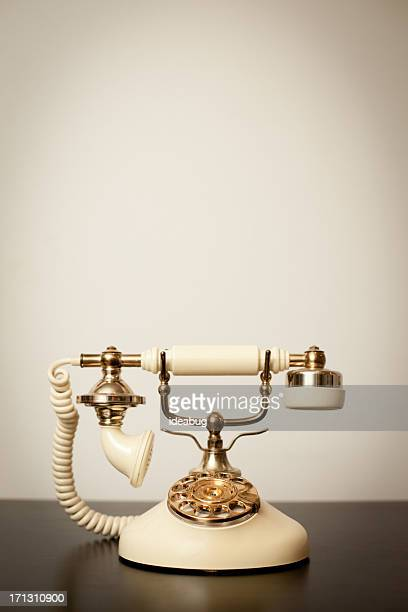 Antique Victorian-Style Rotary Telephone, With Copy Space