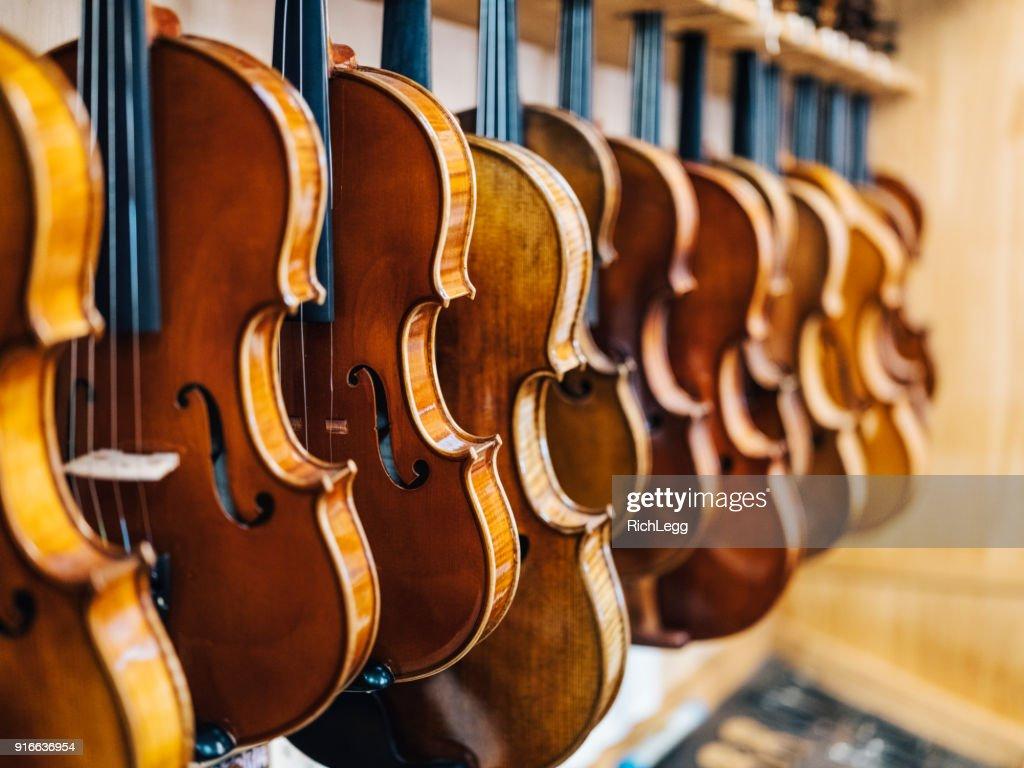 Antique Violin Repair Shop Stock Photo - Getty Images