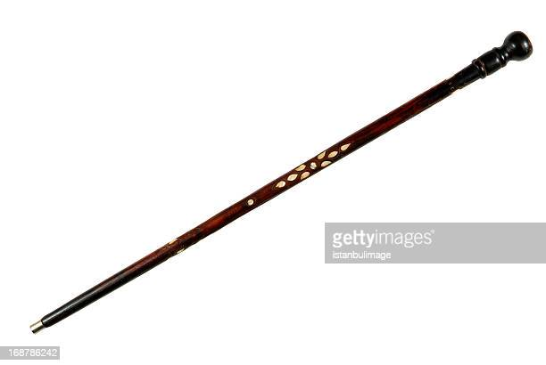 antique walking-sticks - walking cane stock photos and pictures