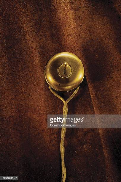 antique wall-mounted bell - brass stock pictures, royalty-free photos & images
