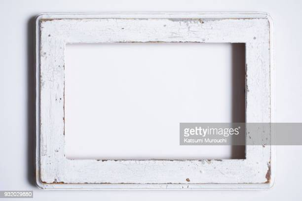 Antique white picture frame background