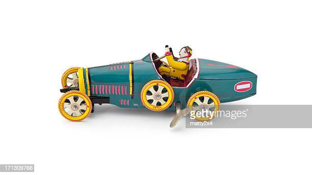 Antique wind up tin car