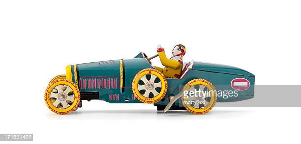 antique wind up tin car - wind up toy stock photos and pictures