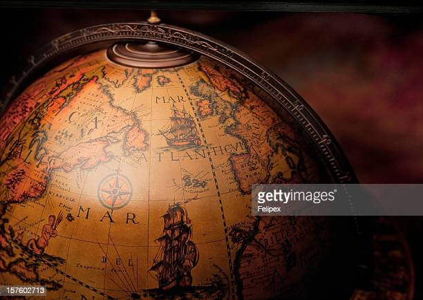 Desktop globe stock photos and pictures getty images antique world globe map gumiabroncs Image collections