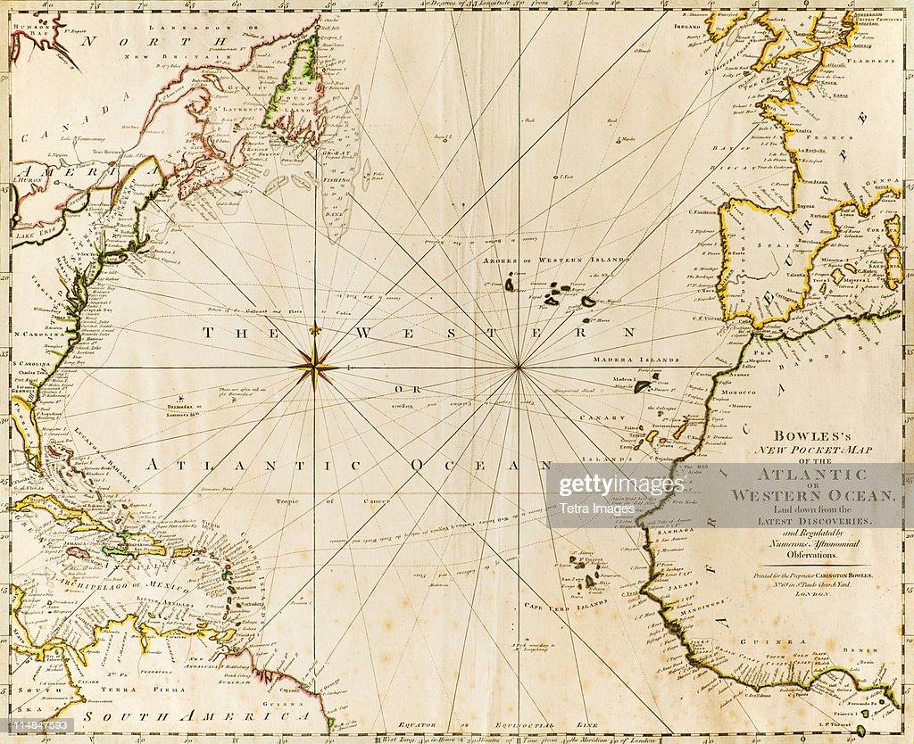 Antique world map : Stock Photo