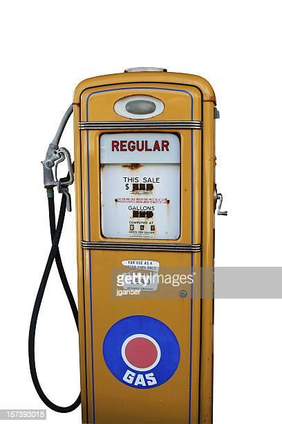 Antique jaune Pompe à gaz