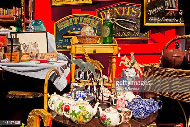 antiques at portobello road market - antique stock pictures, royalty-free photos & images